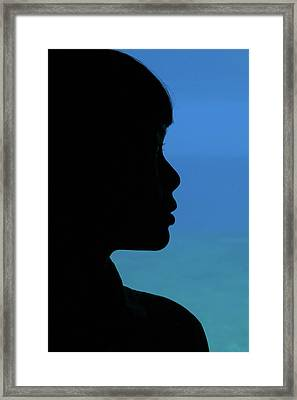 Mystery Woman Framed Print by John Janicki
