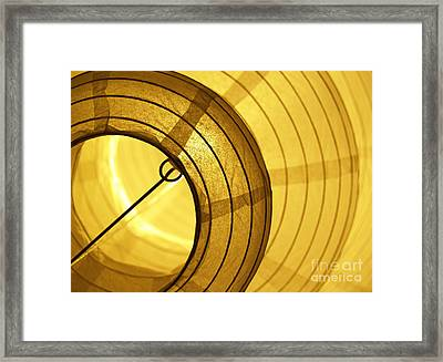 Asian Paper Lantern From Below Framed Print