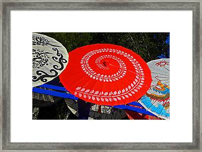Asian Parasols Framed Print