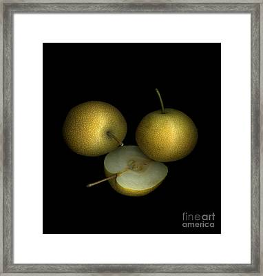 Asian Pears Framed Print by Christian Slanec
