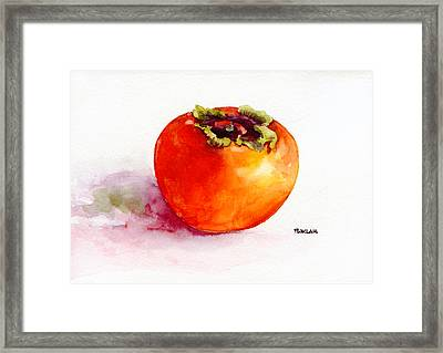 Asian Persimmon Framed Print by Peter Lau