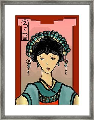 Asian Princess Framed Print by LD Gonzalez