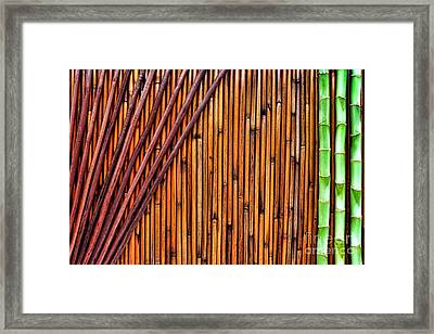 Asian Spa Background Framed Print