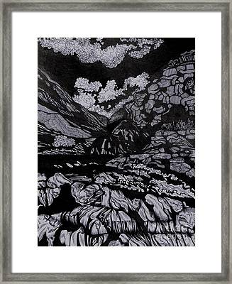 Asia.tension Framed Print by Anna  Duyunova