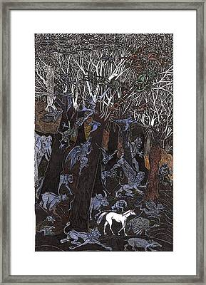 Asil In Shitaki Forest Framed Print by Al Goldfarb
