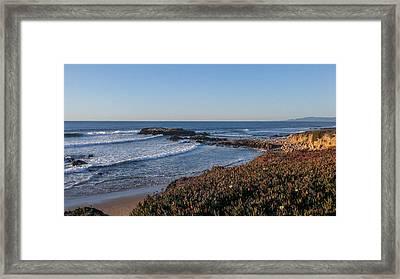 Asilomar Shoreline Framed Print by Mark Barclay