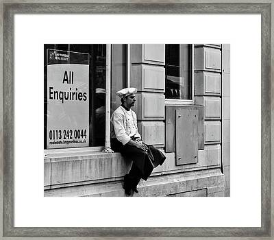 Ask The Chef Framed Print by Paul Jarrett