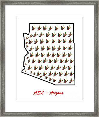 Asl Arizona Framed Print by Eloise Schneider