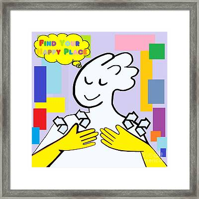 Asl Find Your Happy Place Framed Print