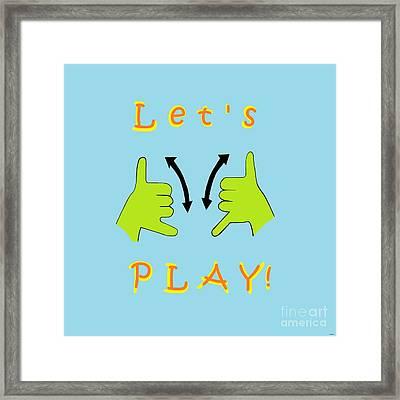 Asl Let's Play Framed Print