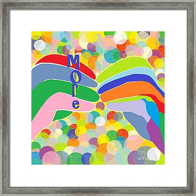 Asl More On A Bright Bubble Background Framed Print by Eloise Schneider