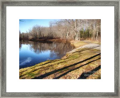 Framed Print featuring the photograph Aslant by Betsy Zimmerli