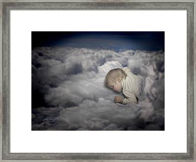 Asleep In The Clouds Framed Print