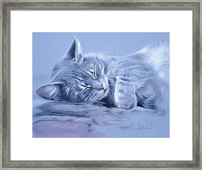 Asleep Framed Print by Lucie Bilodeau