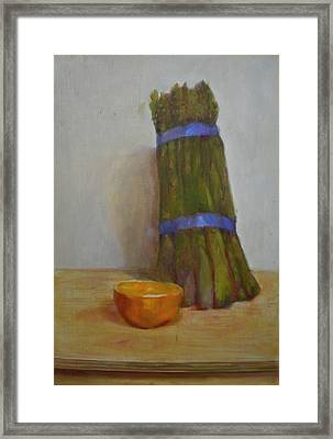 Asparagus   Copyrighted Framed Print by Kathleen Hoekstra