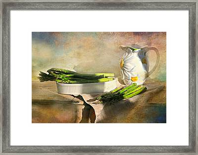 Asparagus Framed Print by Diana Angstadt