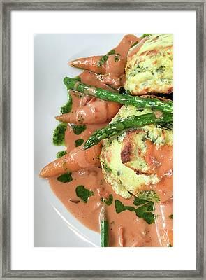 Asparagus Dish Framed Print