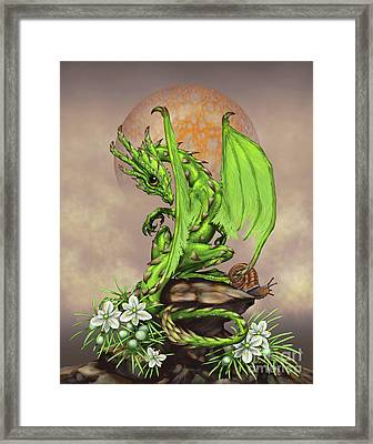 Framed Print featuring the digital art Asparagus Dragon by Stanley Morrison