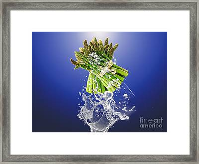 Asparagus Splash Framed Print