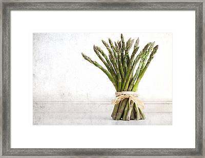 Asparagus Vintage Framed Print