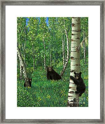 Aspen Bear Nursery Framed Print