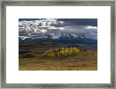 Framed Print featuring the photograph Aspen Circle by Chuck Jason