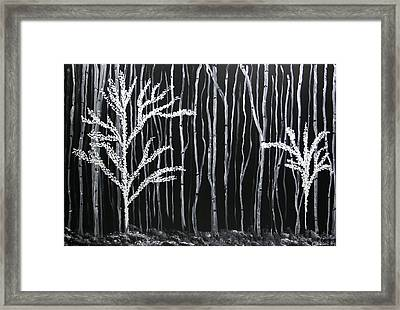 Aspen Forest Framed Print by Dolores  Deal