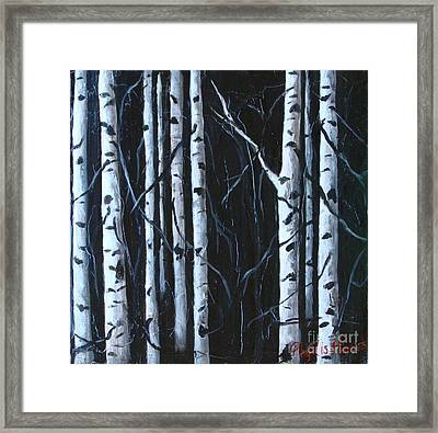 Framed Print featuring the painting Aspen Grove by Phyllis Howard