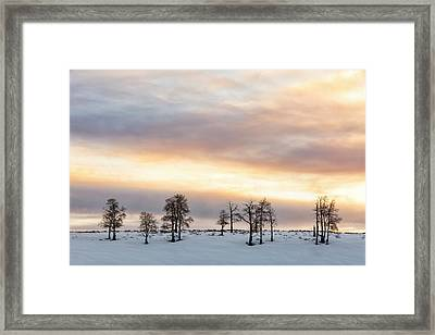 Aspen Hill At Sunset Framed Print