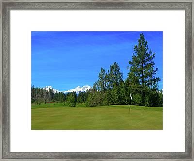 Aspen Lakes Golf Course - Hole #7 Framed Print by Scott Carda