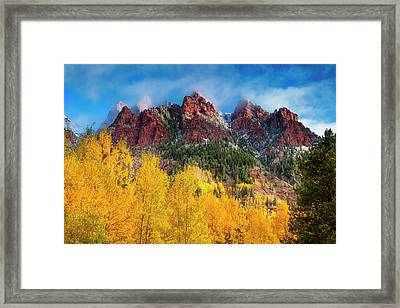 Framed Print featuring the photograph Aspen Morning by Andrew Soundarajan