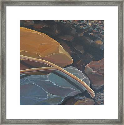 Aspen Rain Branch Framed Print