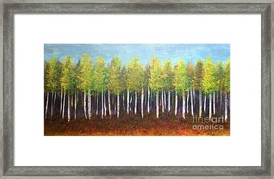 Aspen Song Framed Print