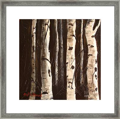 Aspen Stand Framed Print by Phyllis Howard