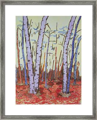 Framed Print featuring the painting Aspen Trees by Connie Valasco