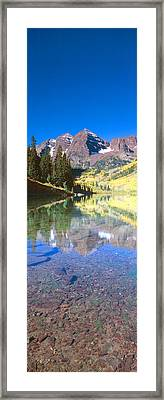 Aspens And Morning Light, Maroon Bells Framed Print