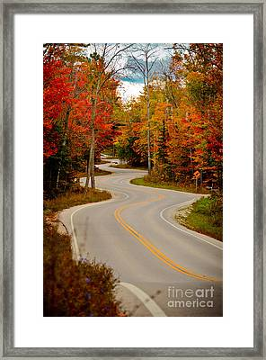 Asphalt Creek In Door County Framed Print