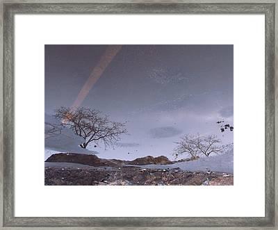 Asphalt Reflection I Framed Print by Anna Villarreal Garbis