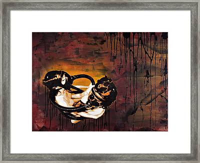 Asphyxiation By Oil Dependency Framed Print