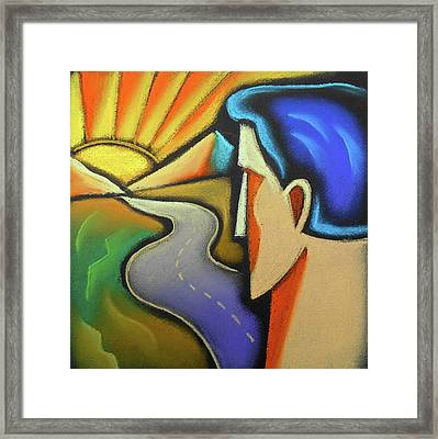Aspiration Framed Print by Leon Zernitsky