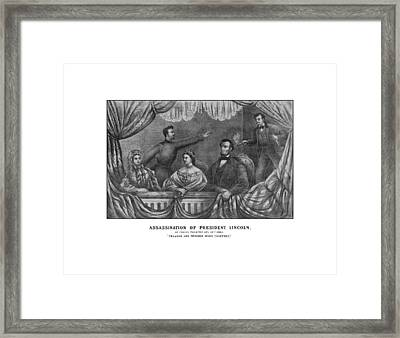 Assassination Of President Lincoln Framed Print by War Is Hell Store