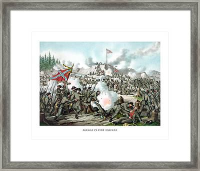 Assault On Fort Sanders Framed Print by War Is Hell Store