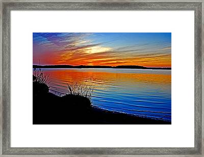 Assawoman Bay At Sunset Framed Print