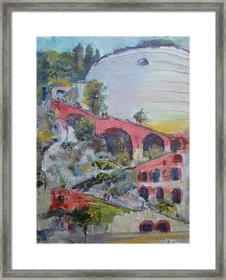 Assenseur Du Chateau Framed Print by Bryan Alexander