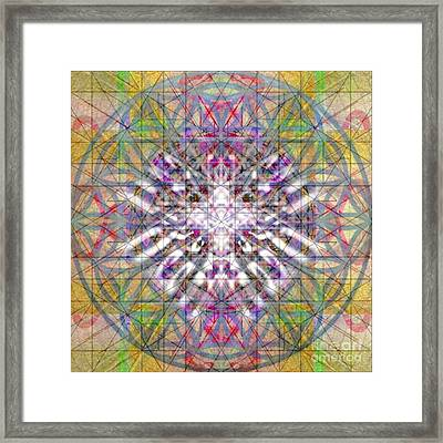 Assent From The Womb In The Flower Tree Of Life Framed Print by Christopher Pringer