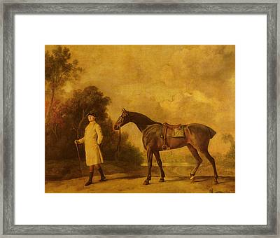 Assheton, First Viscount Curzon, And His Mare Maria Framed Print by George Stubbs