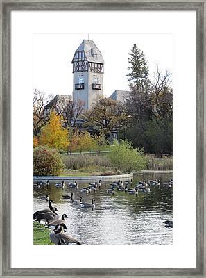 Assiniboine Park Pavilion Framed Print by Mary Mikawoz