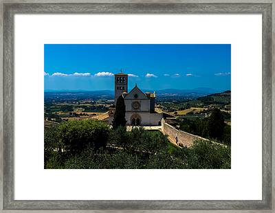 Assisi-basilica Di San Francesco Framed Print