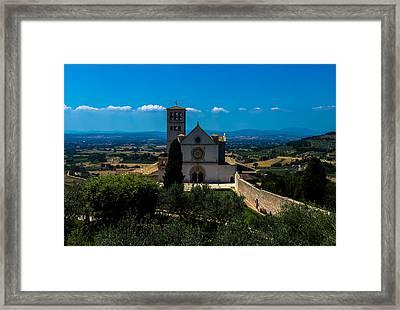 Assisi-basilica Di San Francesco Framed Print by Cesare Bargiggia