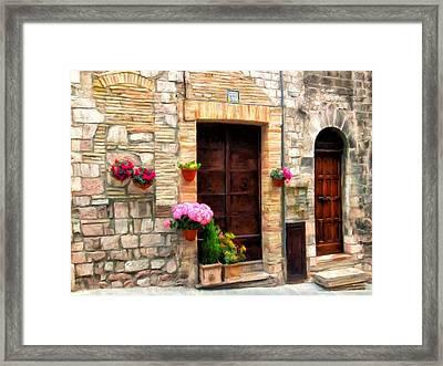 Assisi Doorways Framed Print